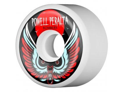 powell peralta bomber 3 skateboard wheels white 60 85a