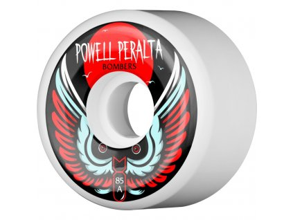 powell peralta bomber 3 skateboard wheels white 60 85a