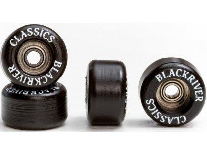 Blackriver Fingerboard Wheels Classic Schwarz Rollen