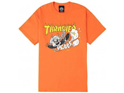 441812 T Shirt Thrasher 40 Year Neckface orange 284224
