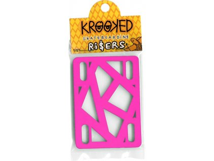 krooked the skateboard risers hot pink