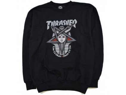 thrasher goddess crew sweatshirt black