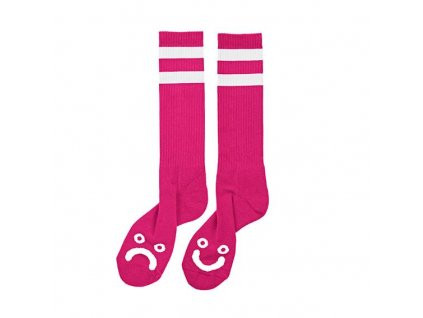 HAPPY SAD SOCKS HOT PINK