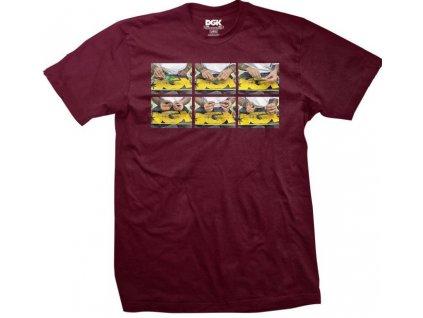 camiseta dgk roll up tee burgundy
