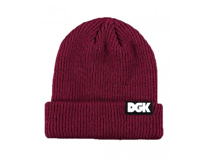 DGK Classic Burgundy Beanie 288390 front US