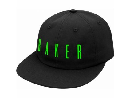 large 85895 Baker Skateboards Cosmos Black Snapback Hat
