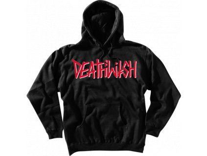 DW DEATHSPRAY PULLOVER BLACK RED MOCK grande