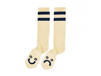HAPPY SAD SOCKS PASTEL YELLOW