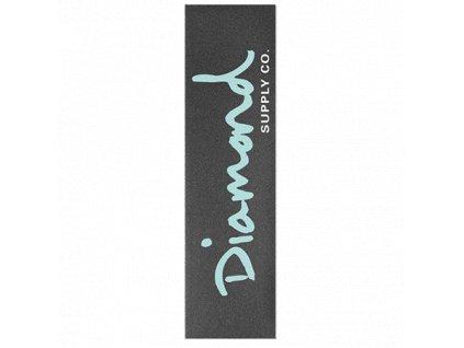 diamond og script blue griptape sheet