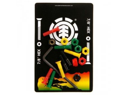 element skateboard irie bolt set rasta 7 8