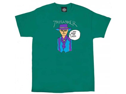 abc01690909f large 95035 Thrasher Magazine Gonz Cash Tshirt Jade