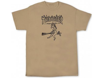 thrasher witch t shirt tan p101138 408412 image