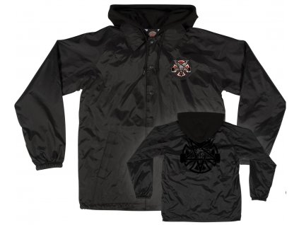 independent uebergangsjacken thrasher pentagram cross l s independent hooded jacket black vorderansicht 0504323
