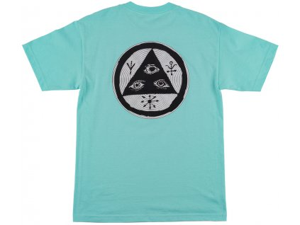 3Welcome Vertigo Tee Teal back