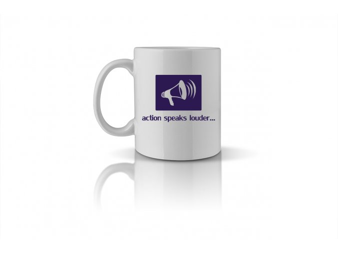 13 action speaks louder than words mug