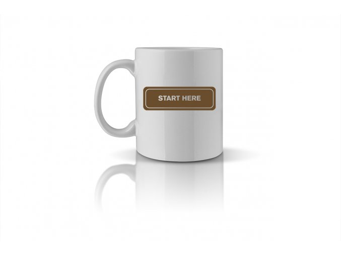 70 START HERE mug