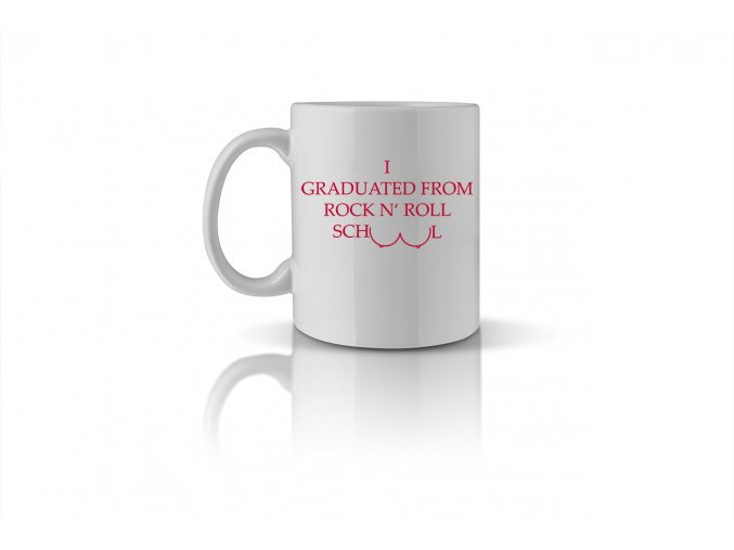 71 I graduated from rock n' roll school mug