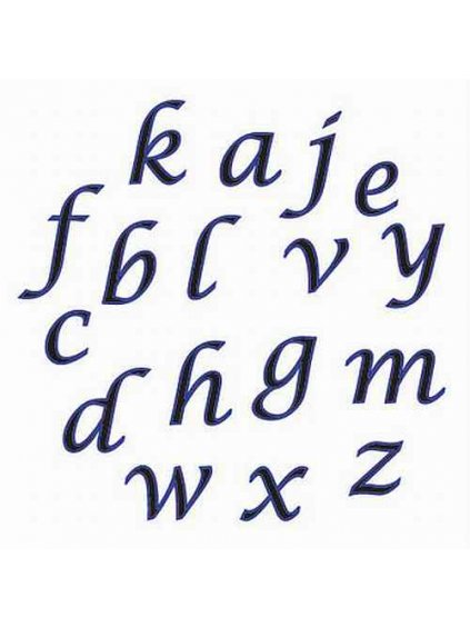 fmm alphabet tappits lower case script
