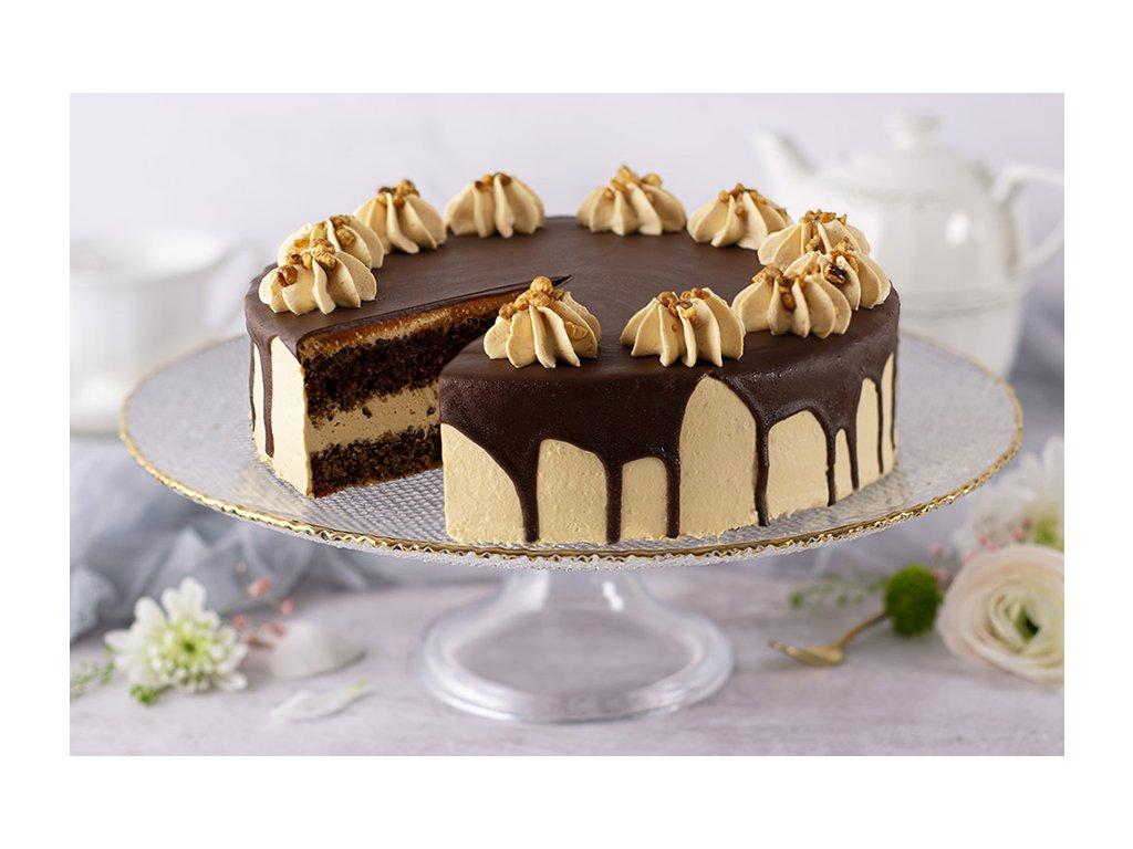 Bezlepková orieškovo karamelová torta Bezlepkový Nut & Caramel Cake