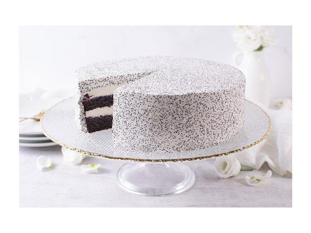 Bezlepková Višňovo maková torta Cherry & Poppy Cake