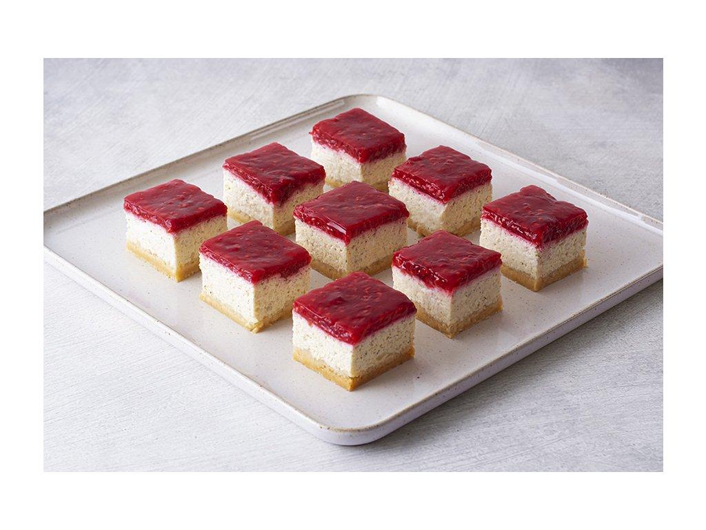 bezlepkovy Mini Cheesecake Raspberry malinovy cheesecake cukrari.sk