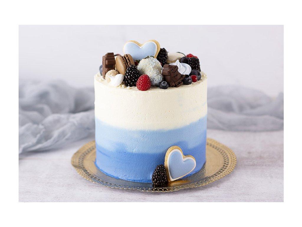 blue ombre modrá ombré torta cukrari.sk