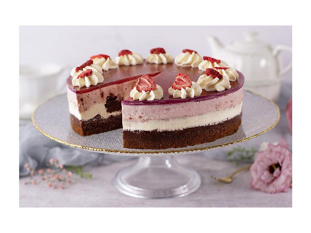 Jahodová torta Neapolitan Strawberry Mousse