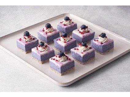 Mini Raw Blueberry mini čučoriedkové vegan kocky cukrari.sk