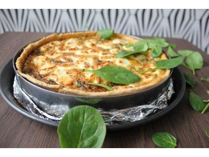 Quiche se špenátem a kozím sýrem - bezlepkový
