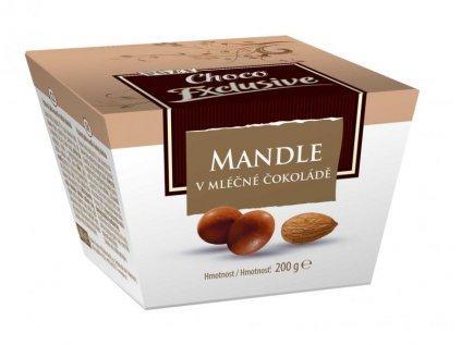 Mandle v mléčné čokoládě 200G