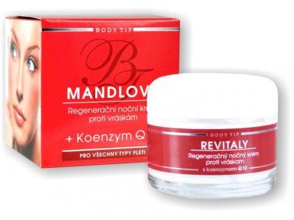 Regenerační noční mandlový krém Revitaly s Q10 BODY TIP 50ml
