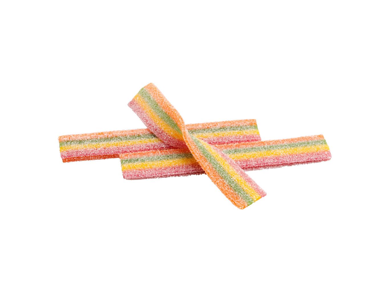 The Candy Plus Sweet factory, s.r.o. JUICCEE GUMMEE KYSELÉ DUHOVÉ PÁSKY 1,6KG (doza)