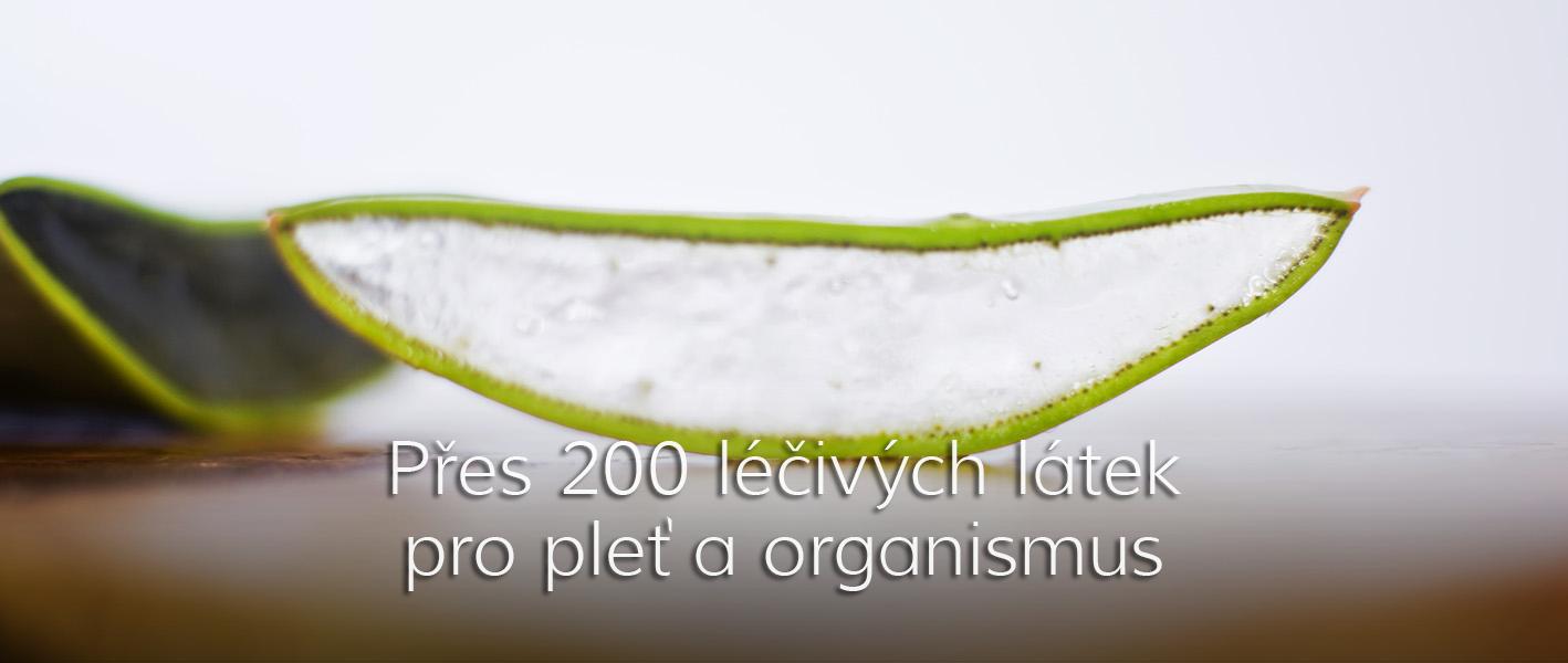 Přes 200 léčivých látek pro pleť a organismus