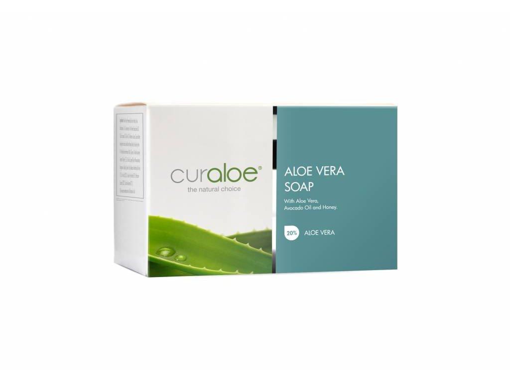 Přírodní mýdlo s Aloe Vera, medem a avokádem Curaloe 90 g
