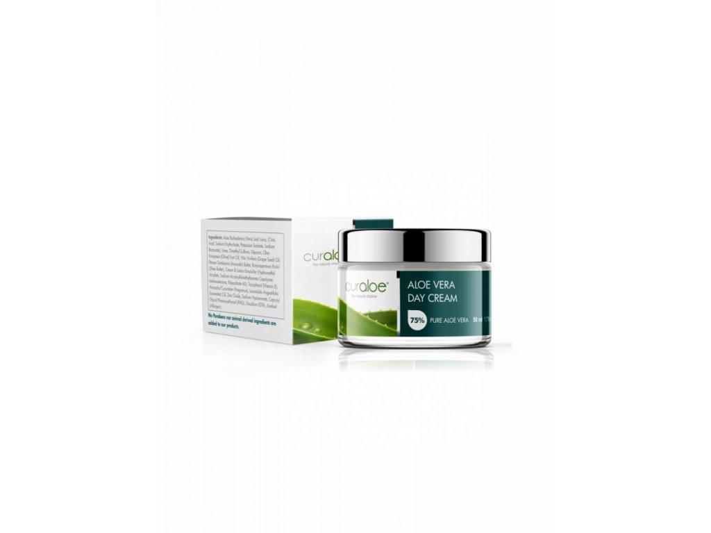 Regenerační a hydratační denní krém se 75% Aloe Vera Curaloe 50 ml