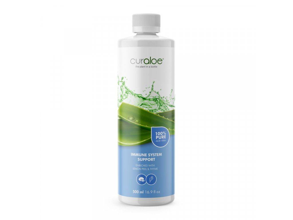 100% Aloe Vera džus pro imunitu Curaloe 0,5 l