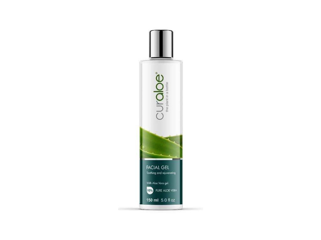 Hojivý obličejový gel s 90% Aloe Vera Curaloe