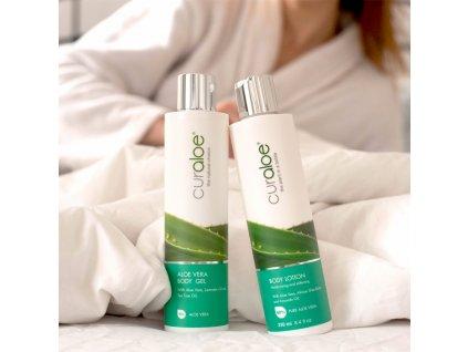 Tělové mléko se 70% Aloe Vera a bambuckým máslem Curaloe