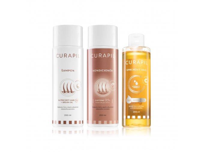 Sprchový olej + šampon + condicionér