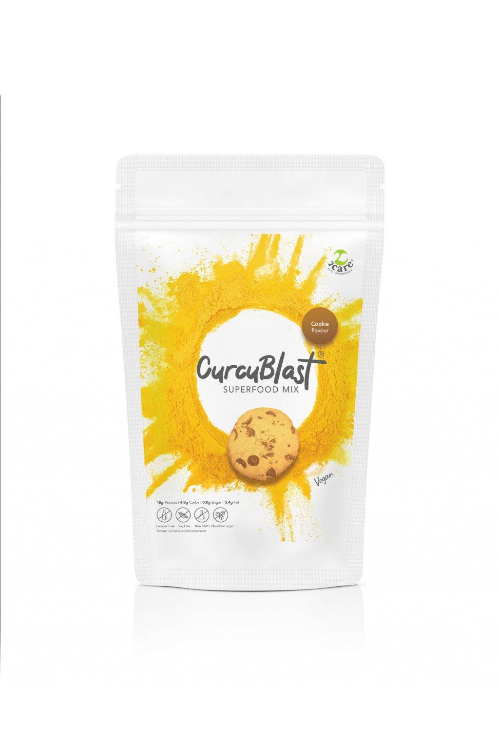Cookie flavoured turmeric infused vegan protein