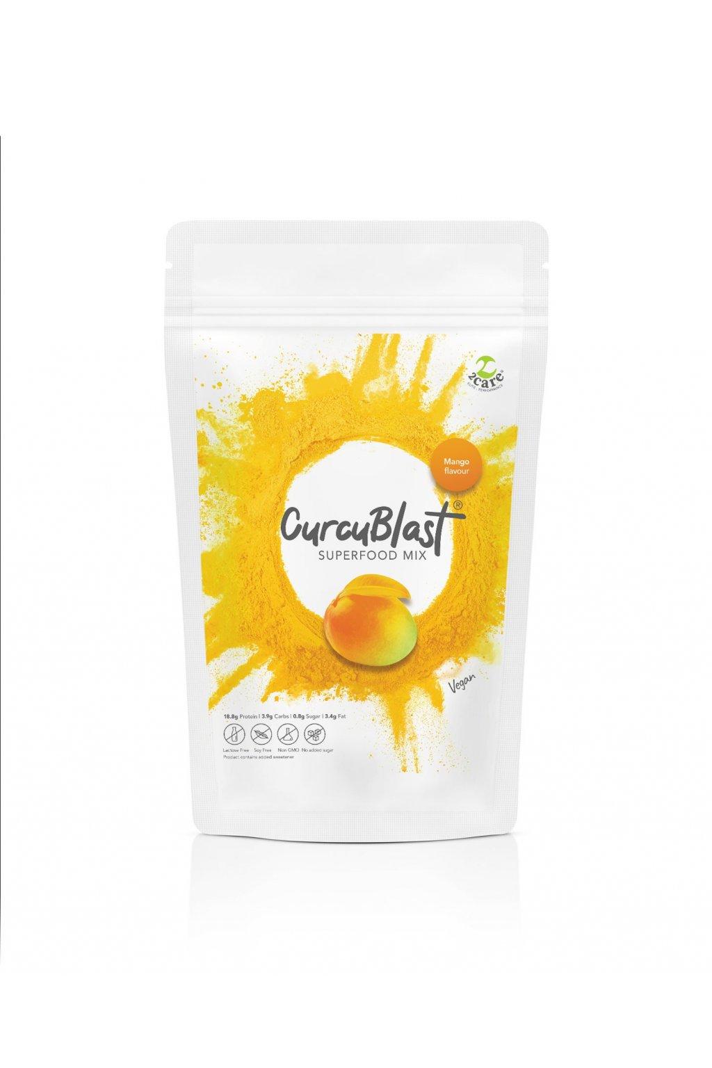 Mango flavoured turmeric infused vegan protein
