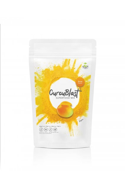 Mango flavoured turmeric infused vegan protein