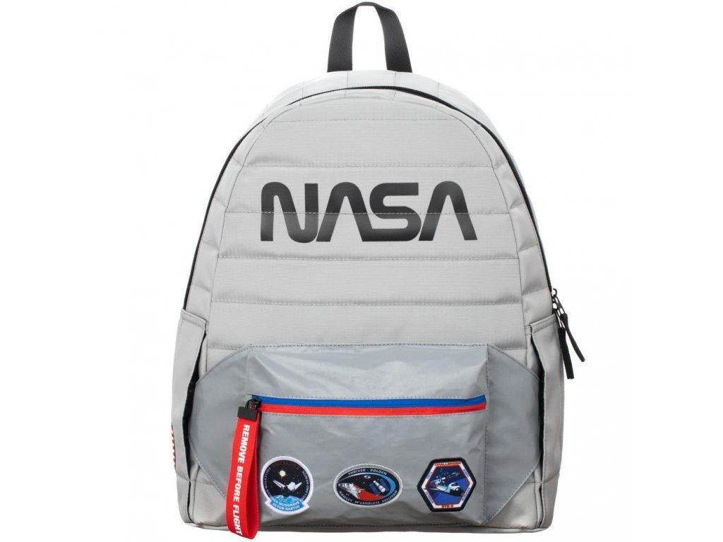 BATOH|NASA  LOGO|43 x 33 x 13 cm|STŘÍBRNÝ