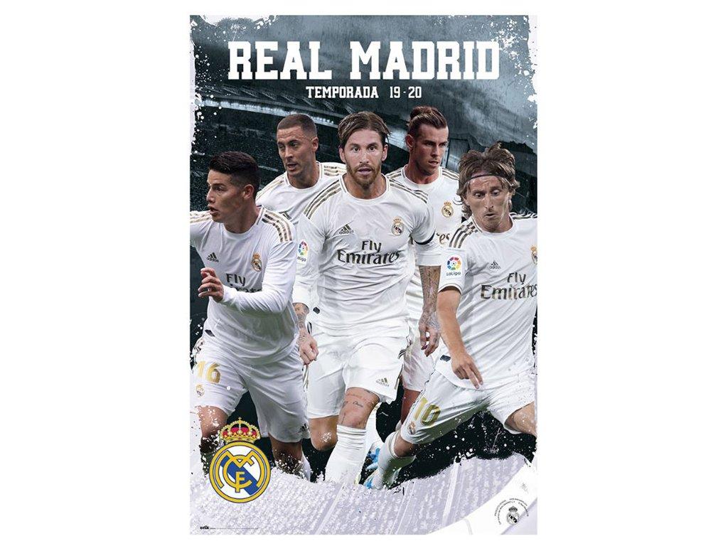 PLAKÁT 61 x 91,5 cm|REAL MADRID FC  2019-2020|GRUPO ACCION