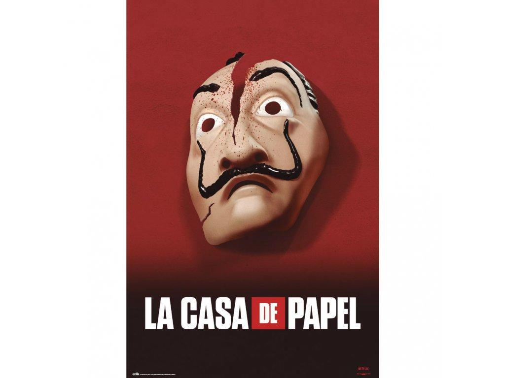 PLAKÁT 61 x 91,5 cm|NETFLIX  LA CASA DE PAPEL|MASK