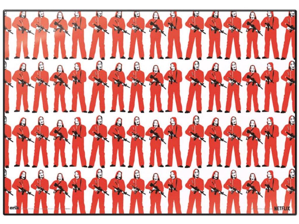 PODLOŽKA NA STŮL|LA CASA DE PAPEL  FIGURAS|49,5 x 34,5 cm
