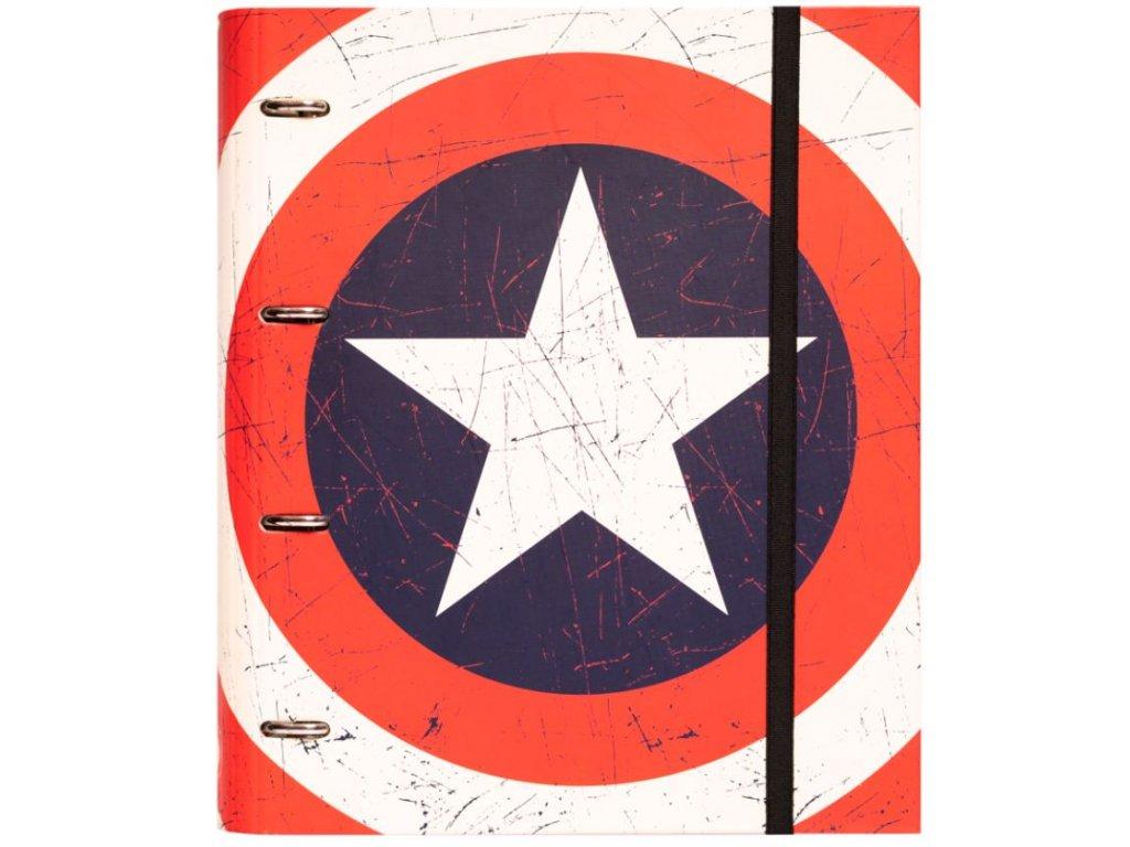 KROUŽKOVÝ POŘADAČ|MARVEL  CAPTAIN AMERICA|28 x 32 x 7 cm
