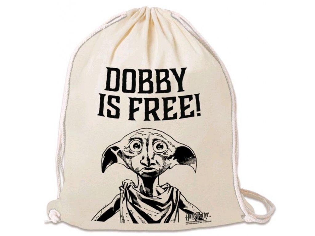 PYTLÍK GYM BAG|HARRY POTTER  DOBBY IS FREE!|35 x 44 cm