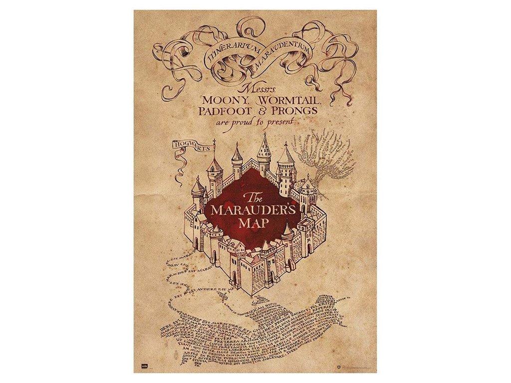 PLAKÁT 61 x 91,5 cm|HARRY POTTER  MARAUDERS MAP