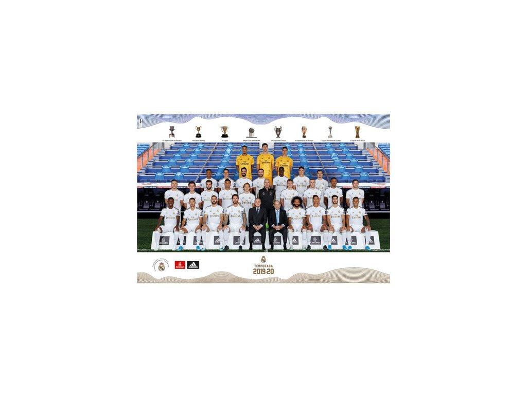 PLAKÁT 61 x 91,5 cm|REAL MADRID FC  TEAM 2019/2020